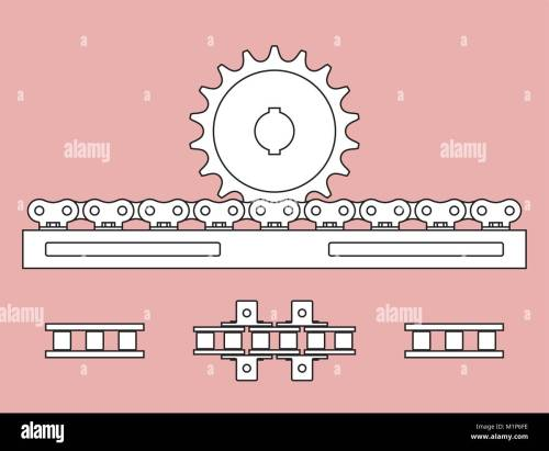 small resolution of sprocket and chain rack on transmission of mechanical power stock vector