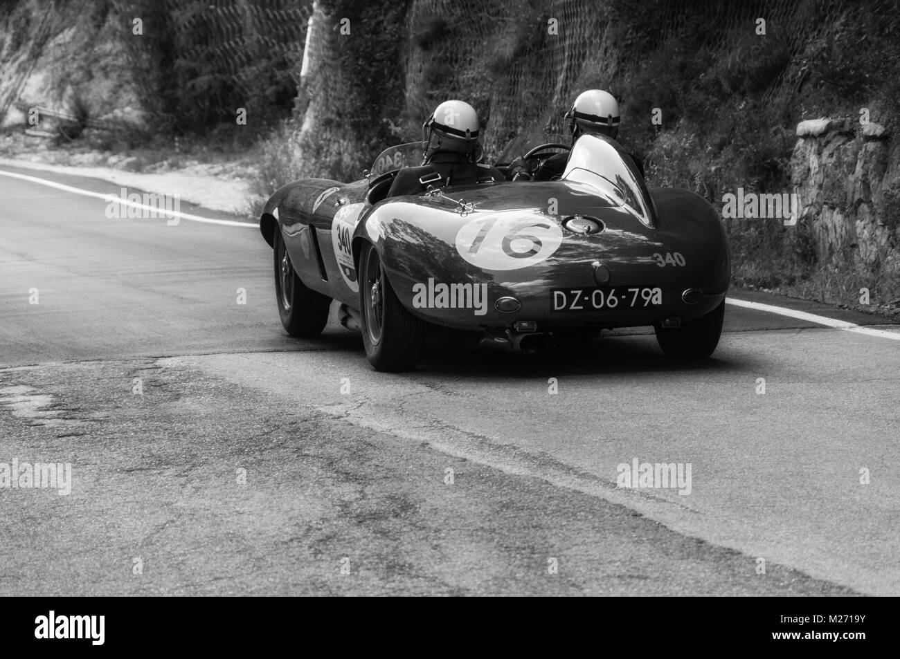 hight resolution of gola del furlo italy may 19 ferrari 750 monza spider scaglietti 1954 on an old racing car in rally mille miglia 2017 the famous italian historical