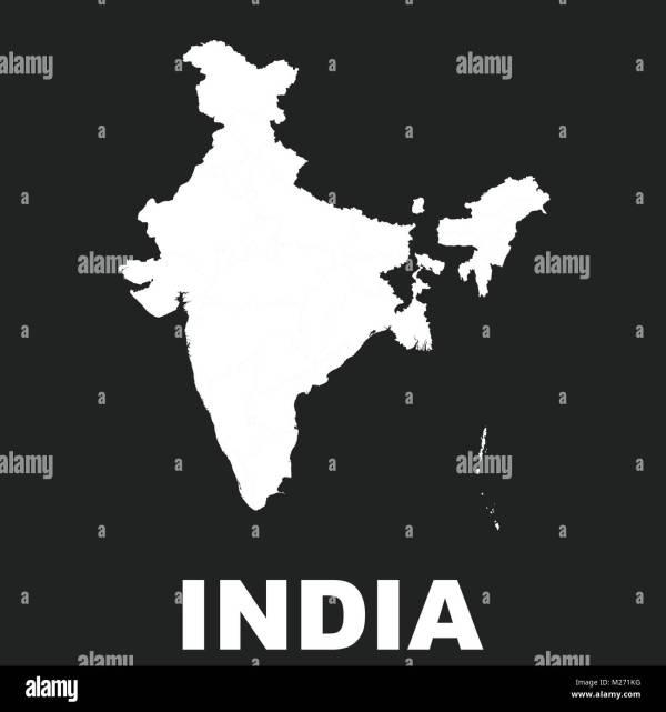 Gujarat Map Blank - Year of Clean Water