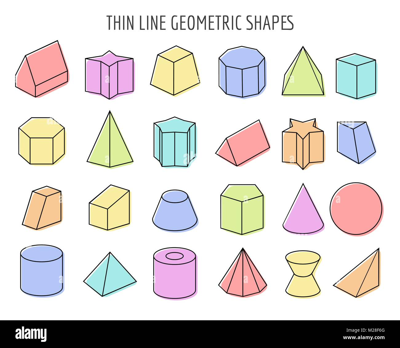 Geometric 3d Figures White Basic Shapes Of Geometry On