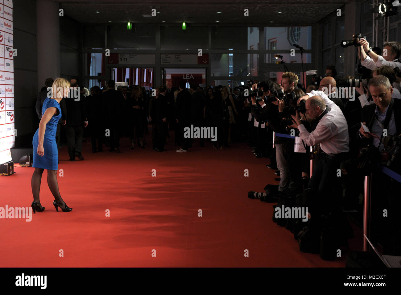 Roter Teppich Frankfurt Barbara Hahlweg Lea Live Entertainment Stock Photos