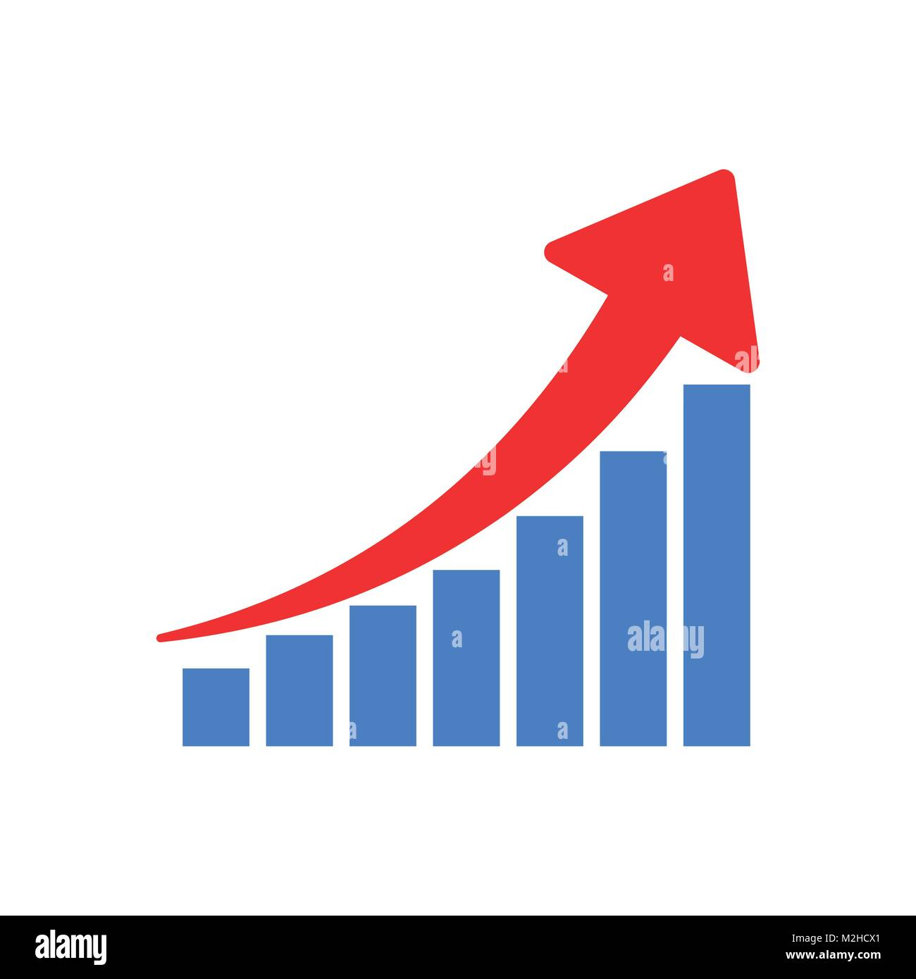 hight resolution of growth chart icon grow diagram flat vector illustration business concept