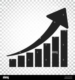 growth chart icon grow diagram flat vector illustration business concept simple flat pictogram on isolated background  [ 1300 x 1390 Pixel ]