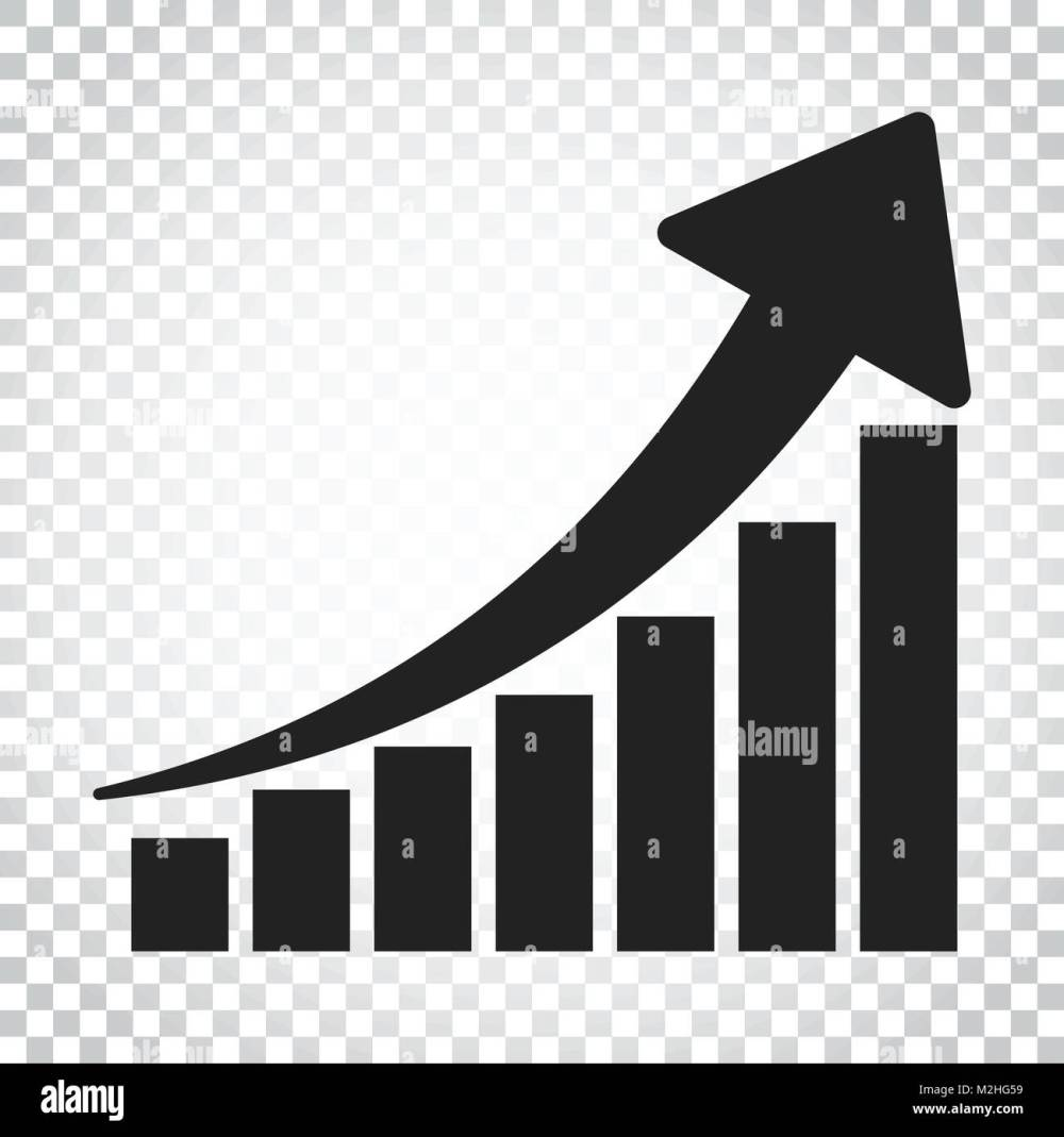 medium resolution of growth chart icon grow diagram flat vector illustration business concept simple flat pictogram on isolated background