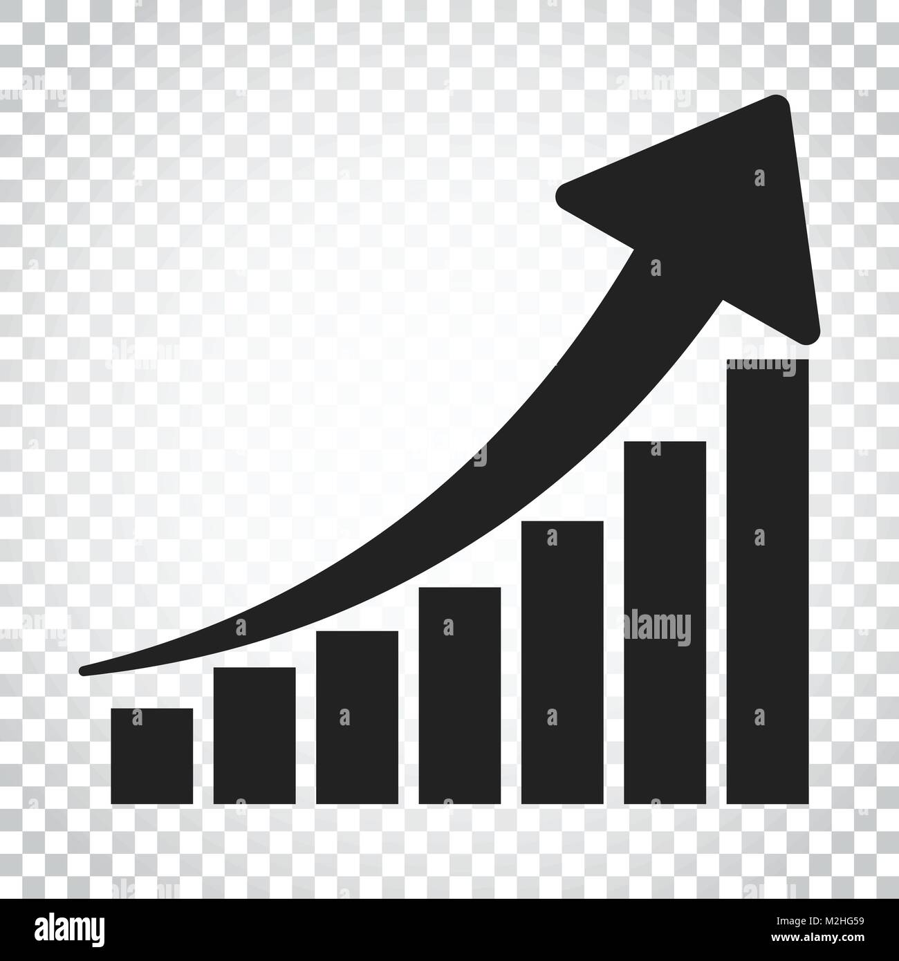 hight resolution of growth chart icon grow diagram flat vector illustration business concept simple flat pictogram on isolated background