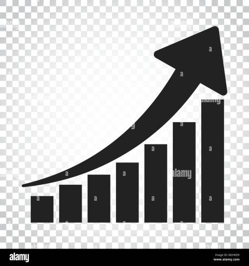 small resolution of growth chart icon grow diagram flat vector illustration business concept simple flat pictogram on isolated background