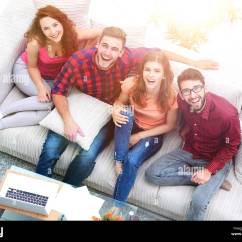 Sofa From Friends Horse Head Table Woman Cosy Stock Photos And
