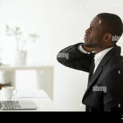 Office Chair Neck Pain Balance Disk For Man Back Stock Photos And