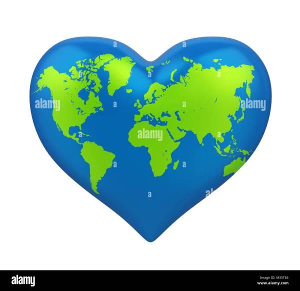 Heart Shaped World Map