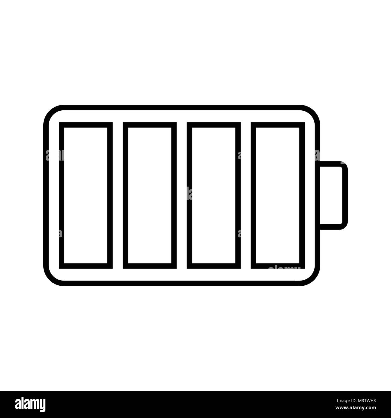 hight resolution of white battery icon