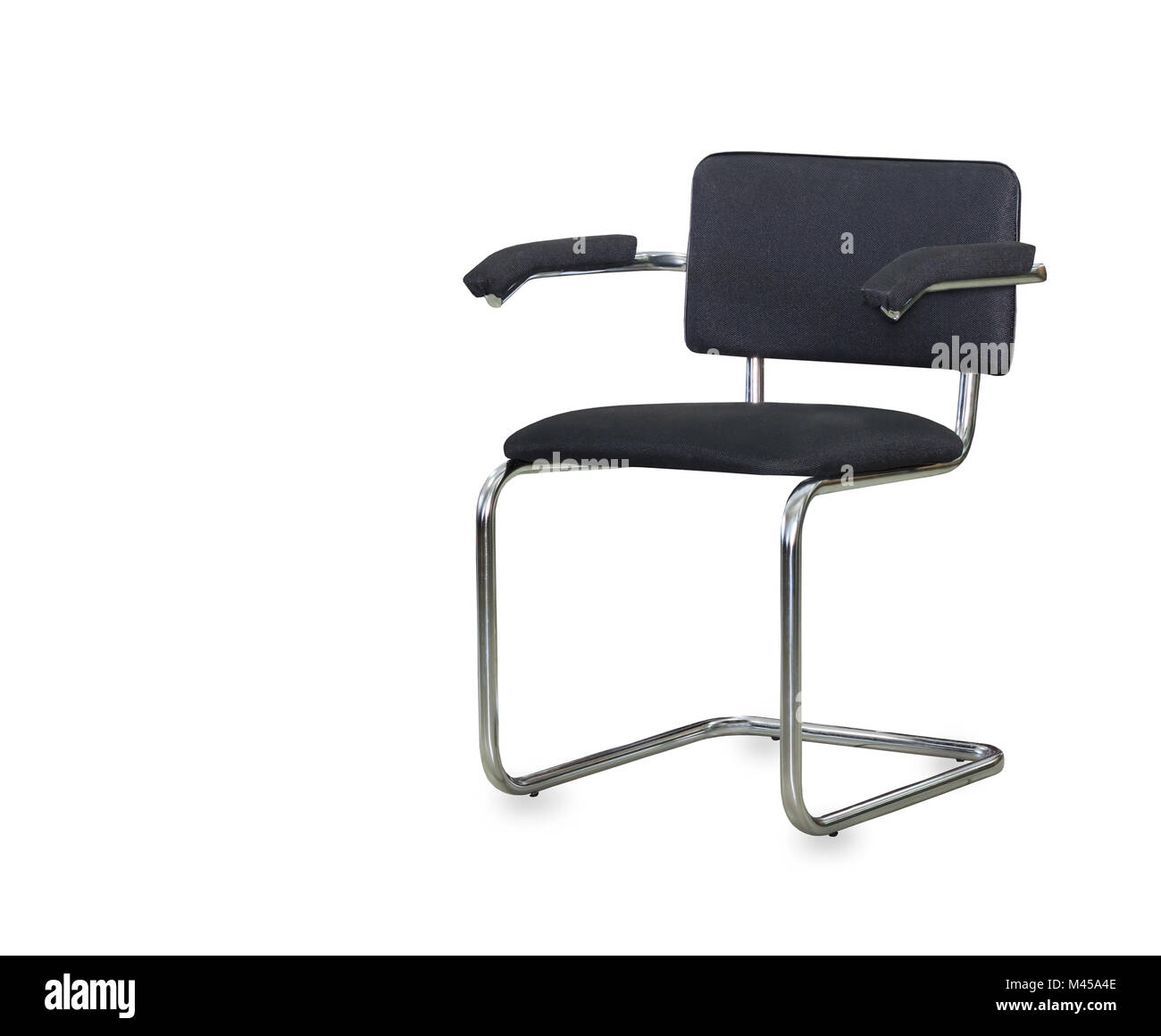 cloth office chairs brown leather chair and a half the black isolated over white stock photo