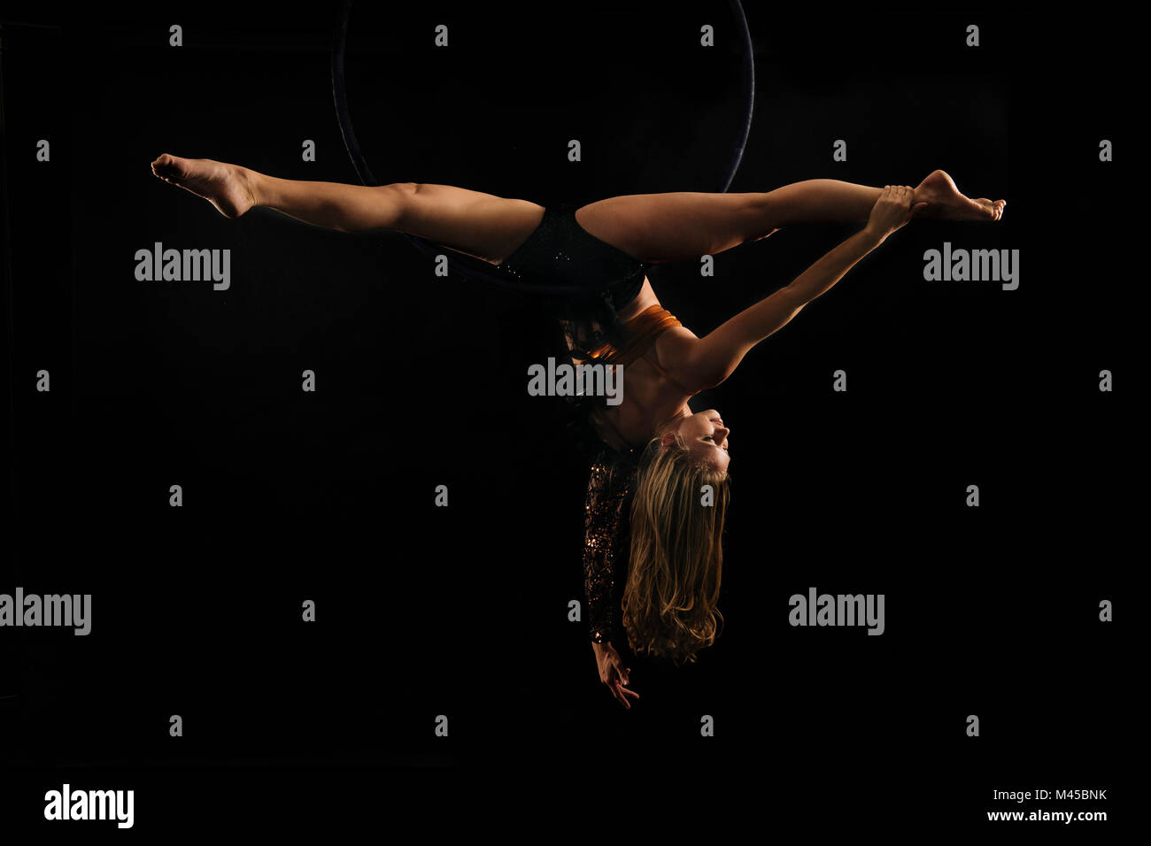hanging upside down chair for back sure fit covers nz doing splits stock photos and images alamy