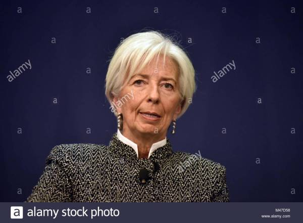 Christine Lagarde Of France Stock - Year of Clean Water