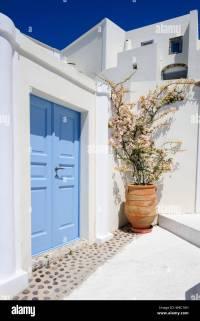Oia luxury decks and patios Stock Photo: 174826529 - Alamy