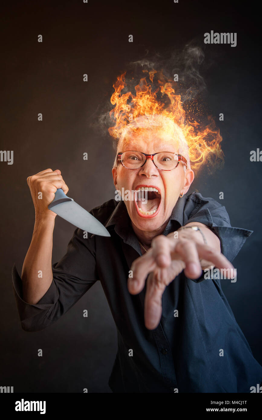 Grandma Stock Image : grandma, stock, image, Grandma, Serial, Killer, Stock, Photo, Alamy