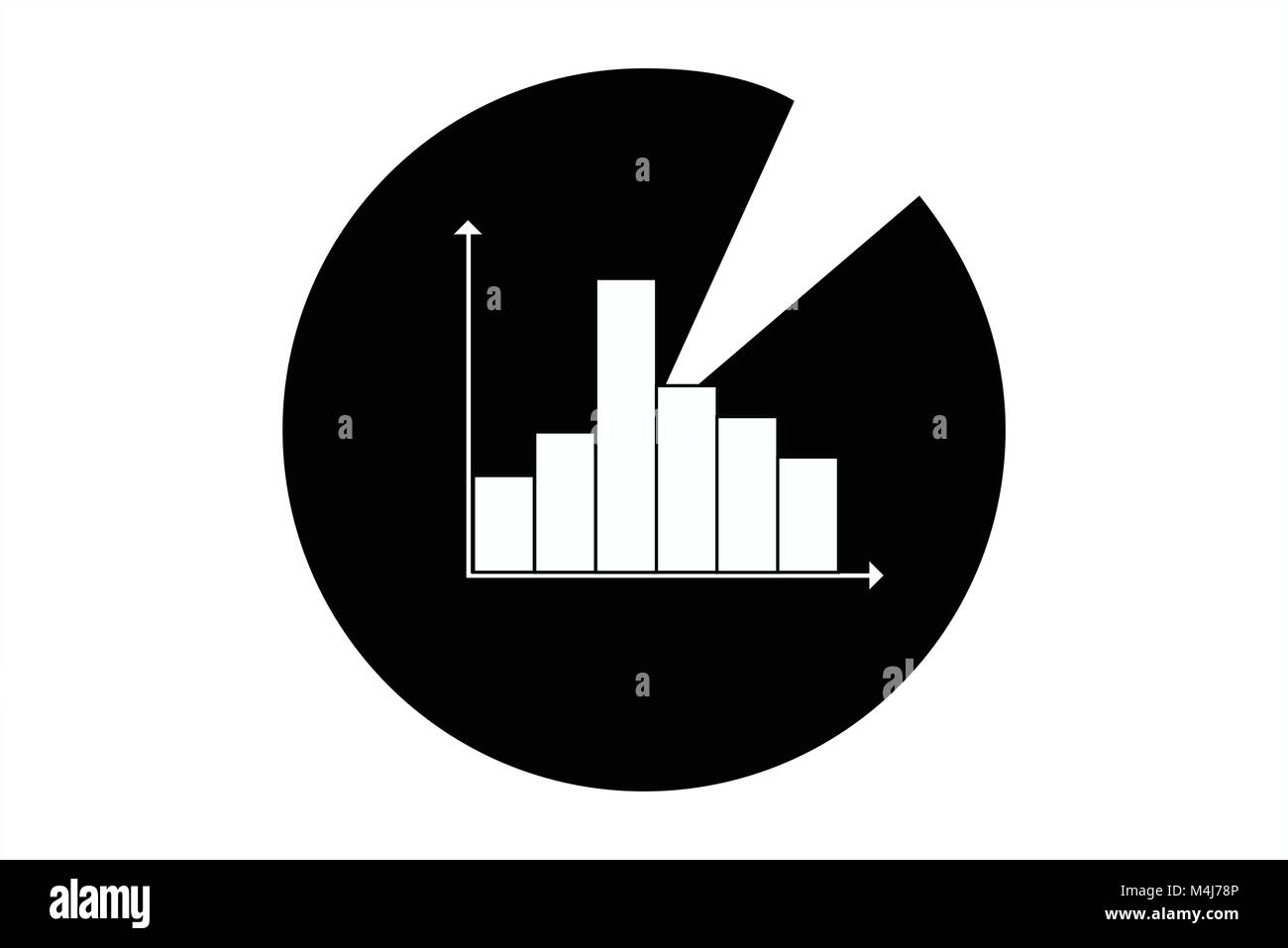 hight resolution of statistics icon symbol for data analysis diagrams business assessment mathematical evaluation artwork of pie chart and bar diagram exploitation