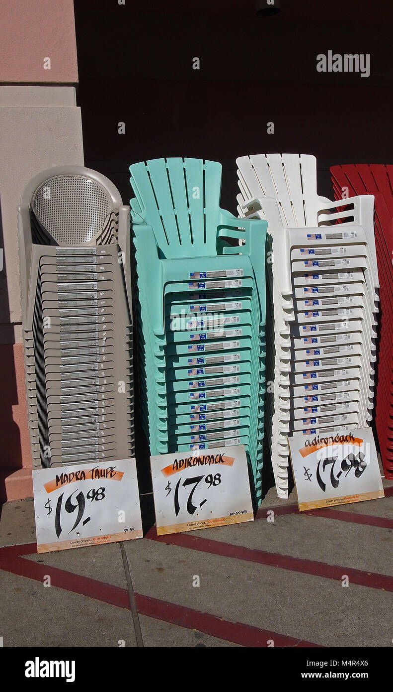 lawn chairs home depot counter height chair slipcovers stacks of american made for sale at store california usa