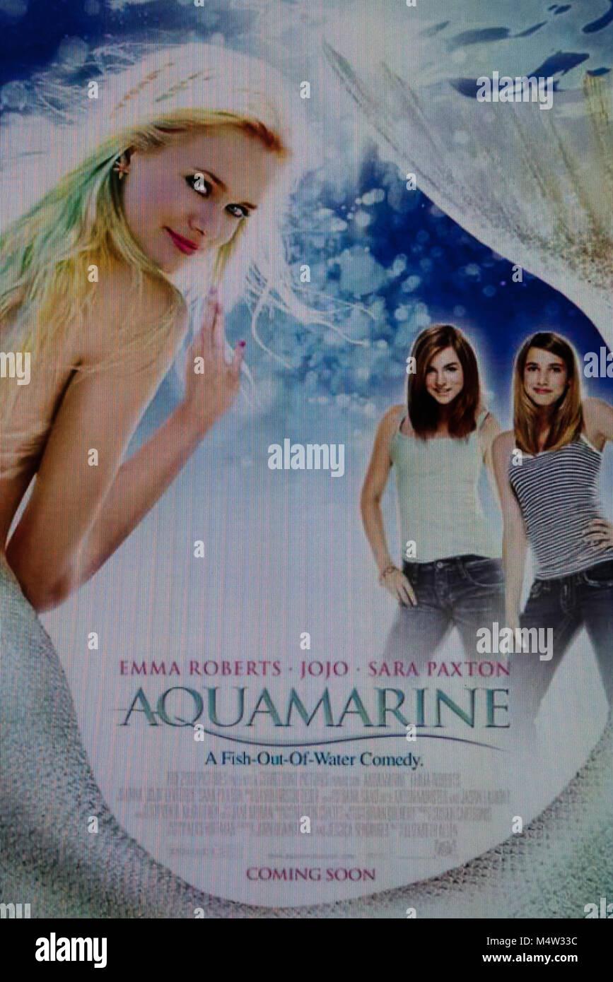 aquamarine film stock photos