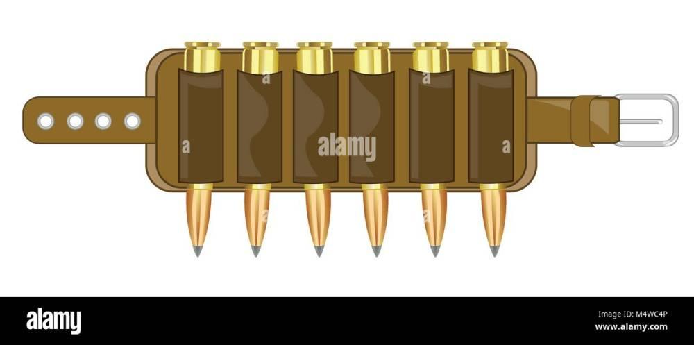 medium resolution of cartridge belt with patron stock image