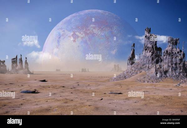 alien planet landscape with strange