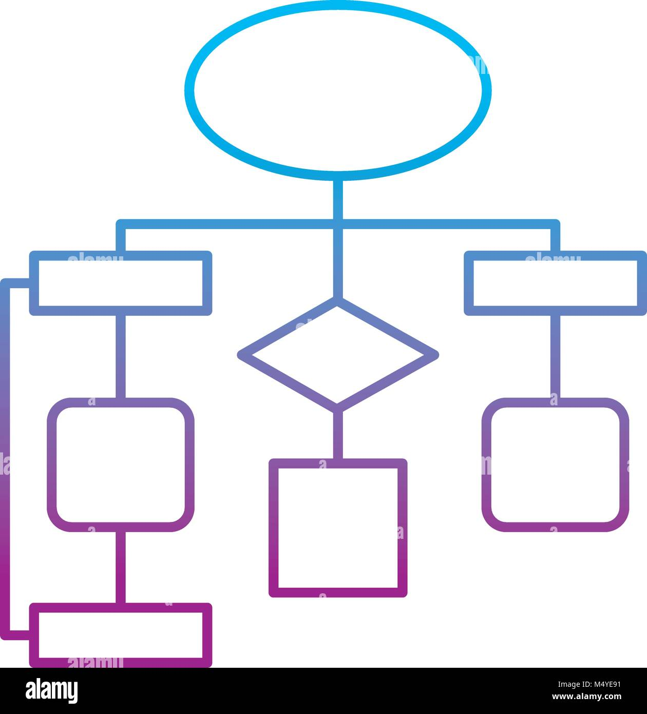 hight resolution of diagram flow chart connection empty