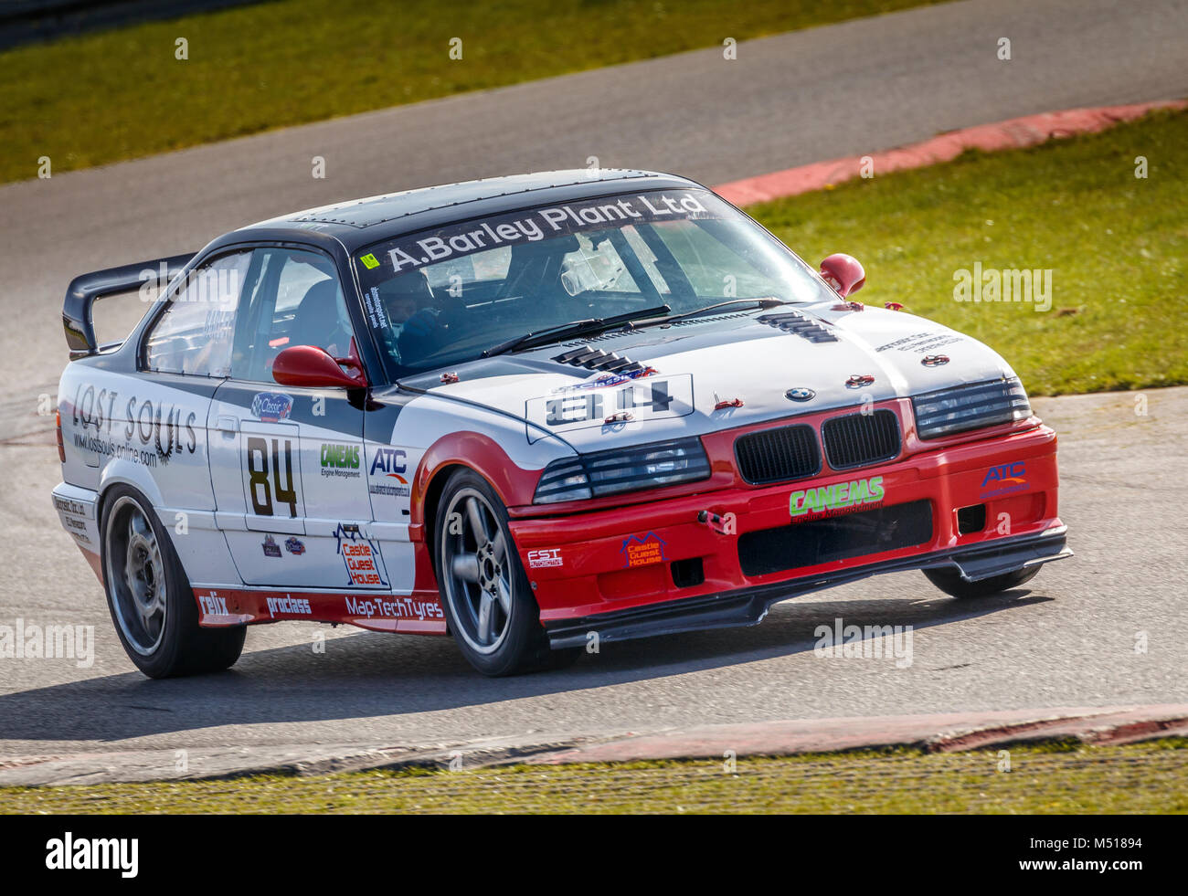 hight resolution of 1992 bmw e36 with driver tom barley during the cscc modern classics race at snetterton motor