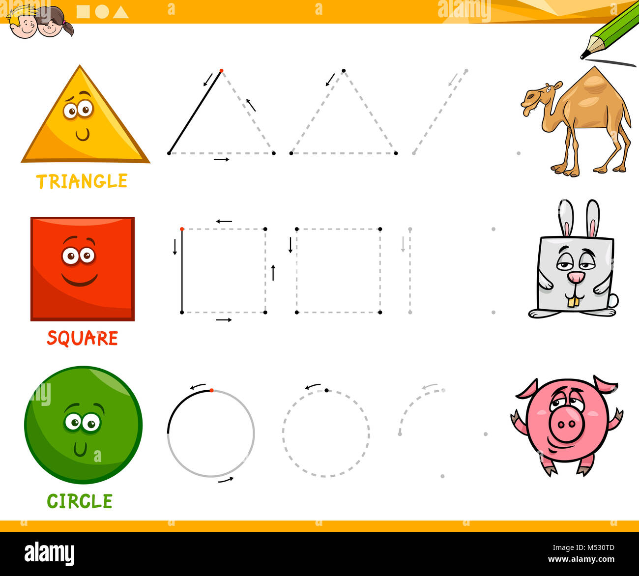 Cartoon Geometry Shapes Stock Photos Amp Cartoon Geometry