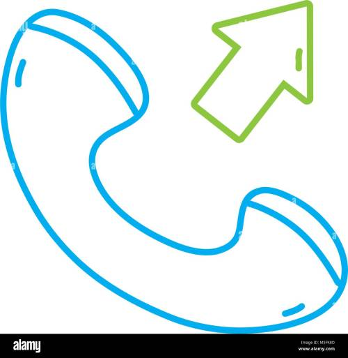 small resolution of color line phone call received sign telephone icon vector illustration