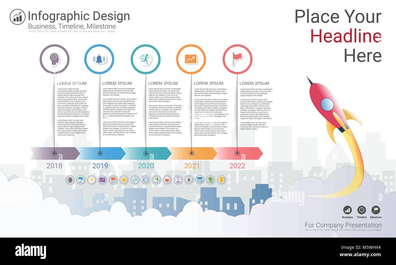 workflow diagram template narva wiring spotlights milestone timeline infographic design, road map or strategic plan to stock vector art ...