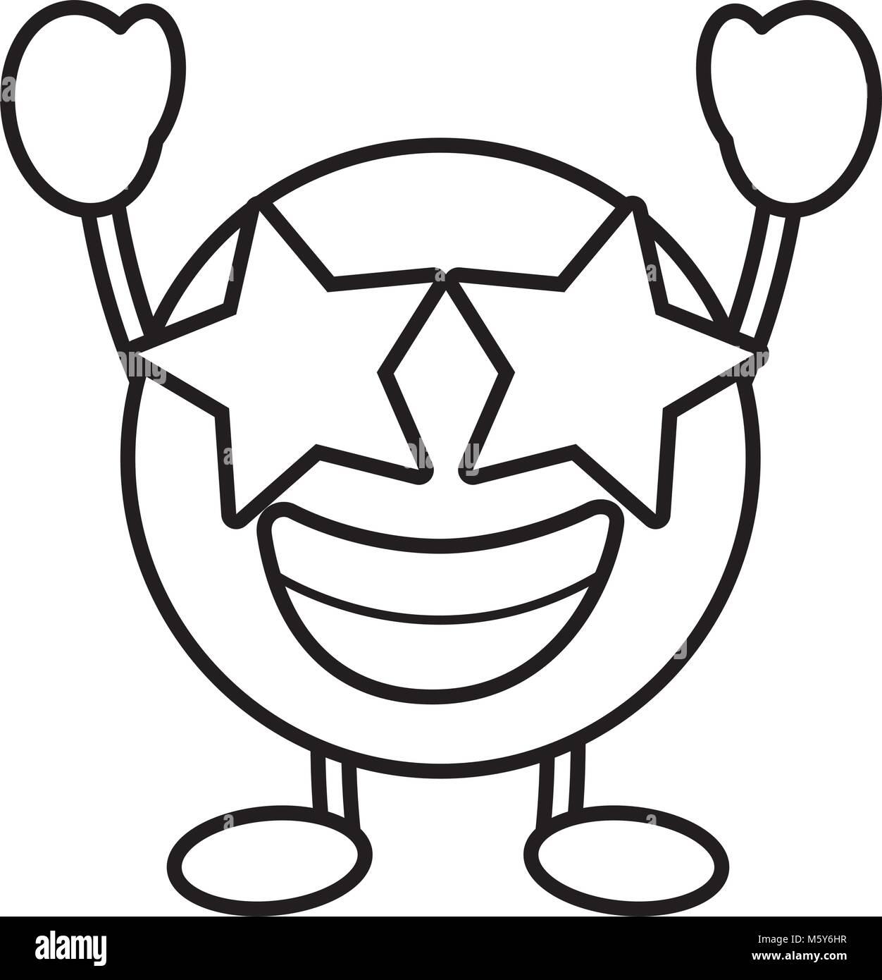 emoticon cartoon face happy