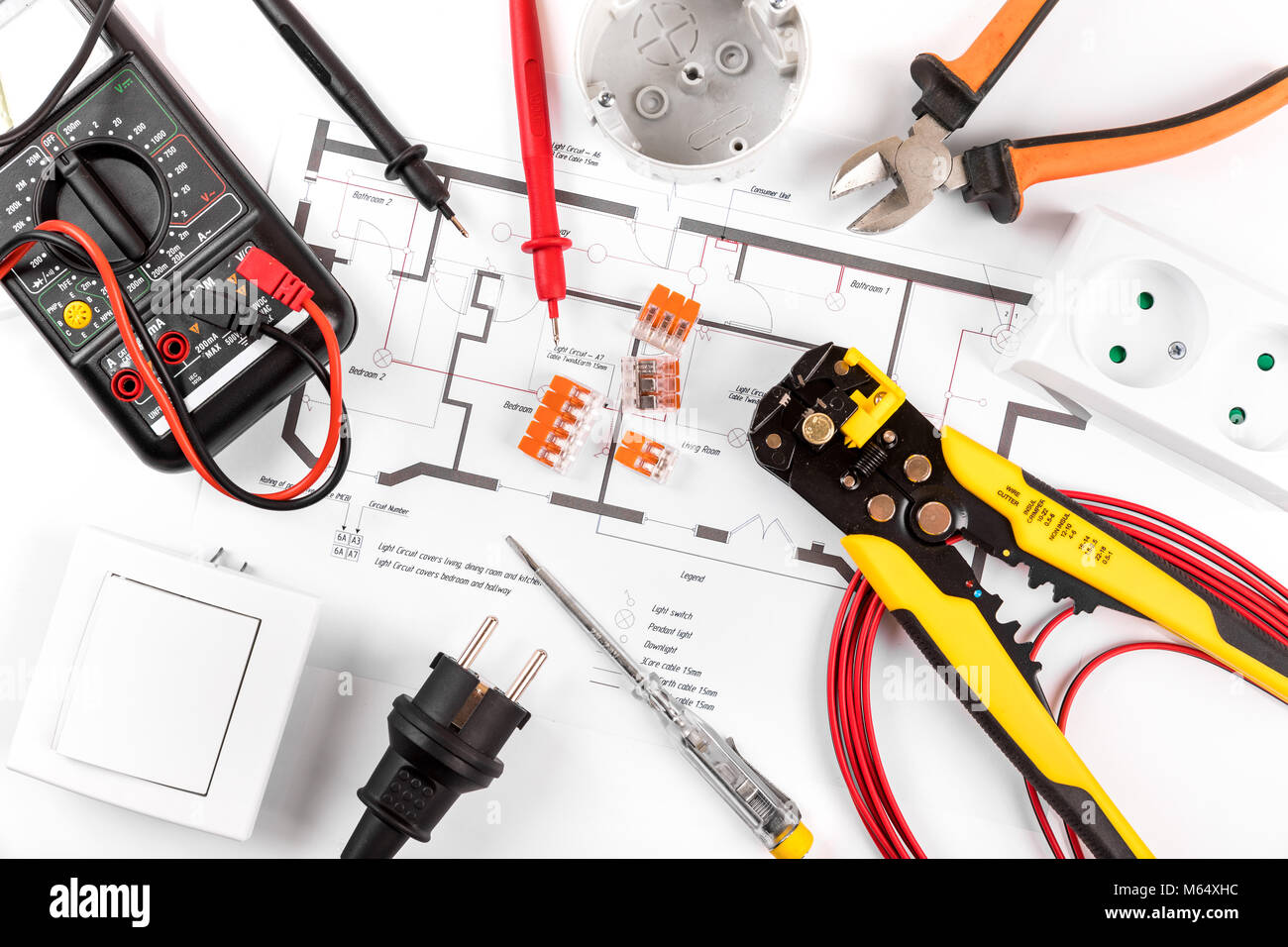 hight resolution of electrical tools and equipment on circuit diagram top view