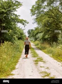 Boy Walking Fishing Pole