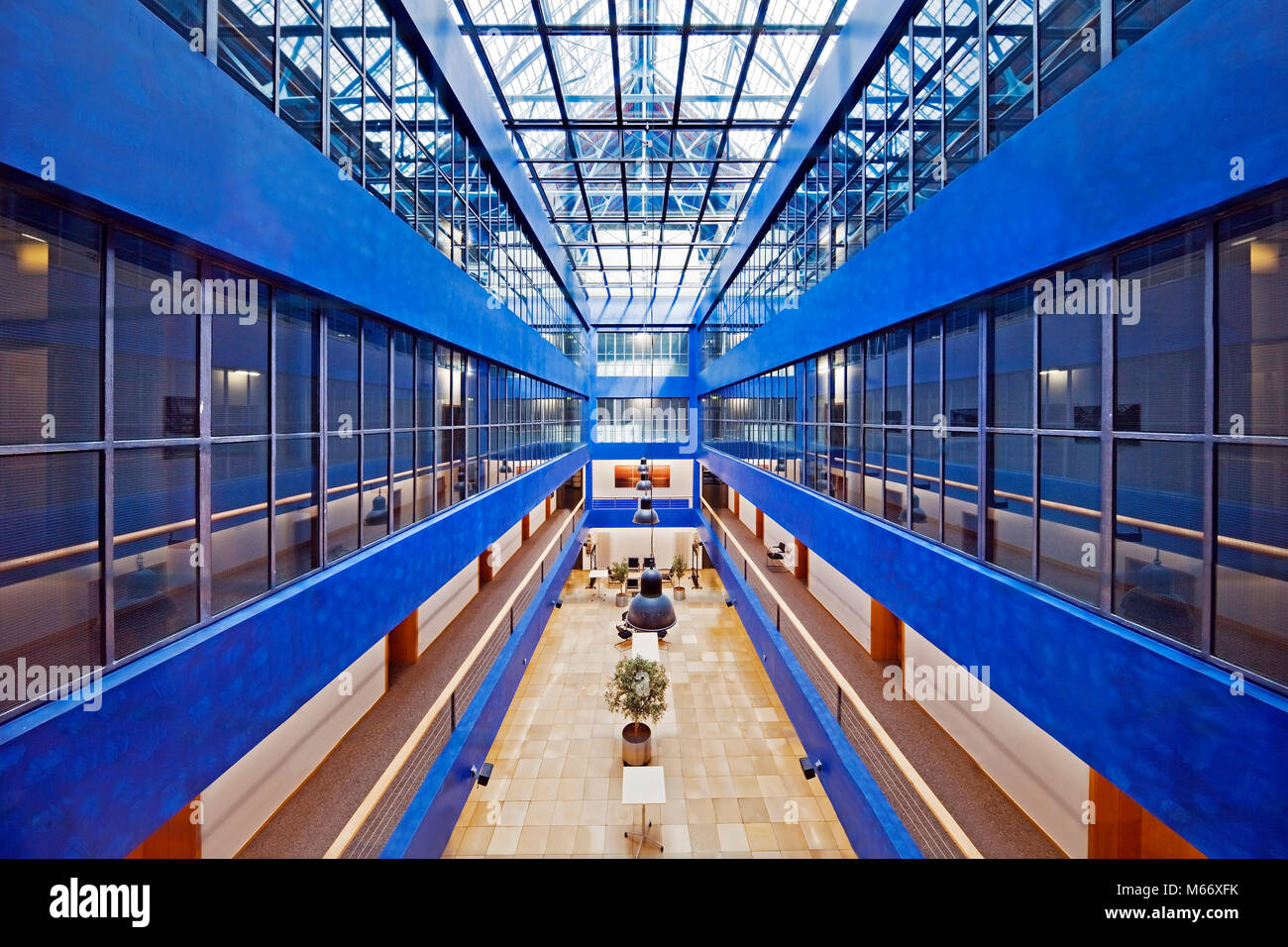 Courtyard Gelsenkirchen Stock Photos Courtyard