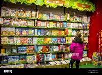 Children's, kids book display in a bookstore, book shop ...