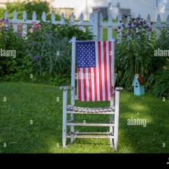 American Flag Chair Office Chairs For Sale Wood Rocking Stock Photos And