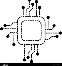 processor circuit electrical icon stock image [ 1241 x 1390 Pixel ]