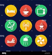 Business Icons With Conference Room Stock Vector