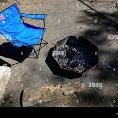 Portable Picnic Chair Contemporary Desk Chairs With Flag Of Australia In Standing Near Open Fire Place Mount Crawford Forest Reserve