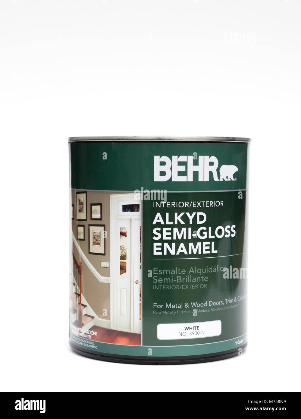 Behr Trim Paint : paint, Alkyd, Semi-Gloss, Enamel, Paint, Doors,, Trim,, Molding, Stock, Photo, Alamy