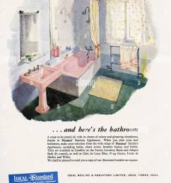 1950s original old vintage advertisement advertising bathrooms by ideal standard of hull in magazine circa 1950 [ 954 x 1390 Pixel ]