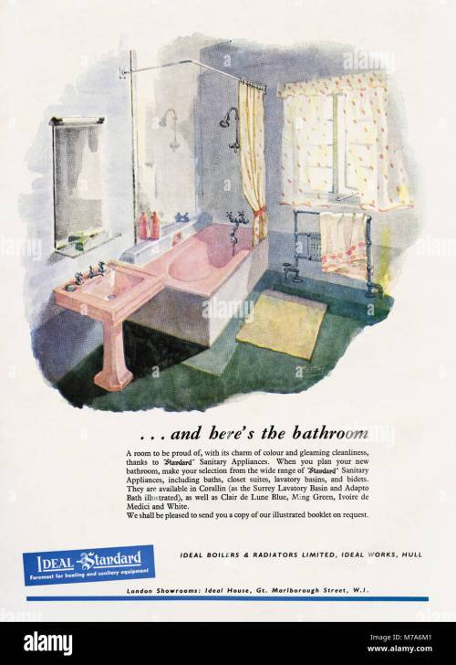 small resolution of 1950s original old vintage advertisement advertising bathrooms by ideal standard of hull in magazine circa 1950
