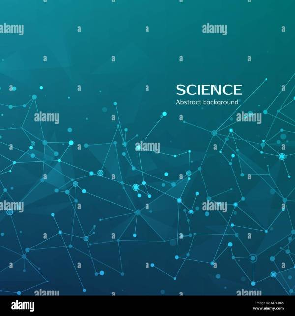 Technology And Science Background. Abstract Web Nodes