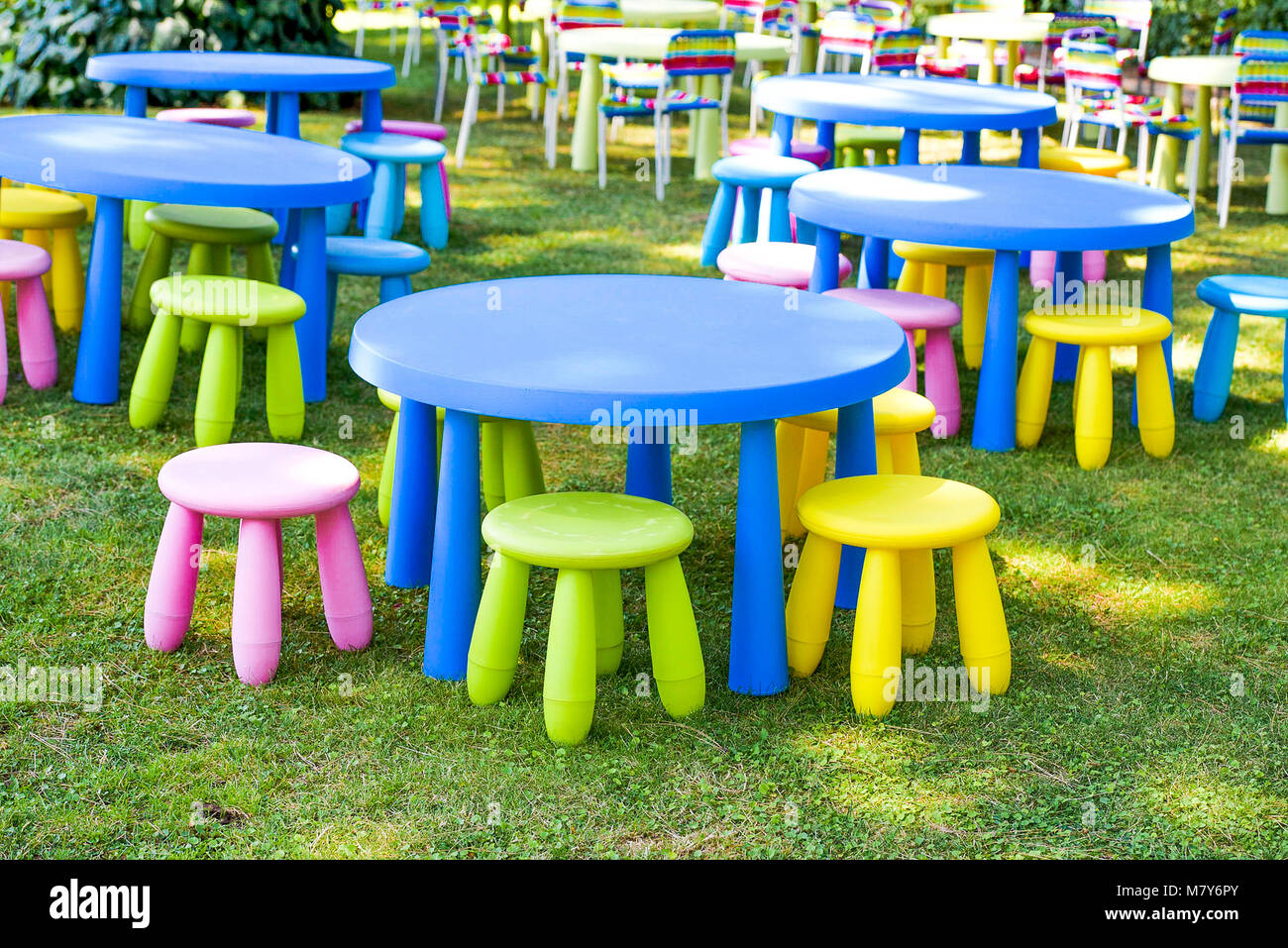 childrens chairs soft desk chair york garden decorated for children party modern and comfortable sets of s colourful furniture small tables