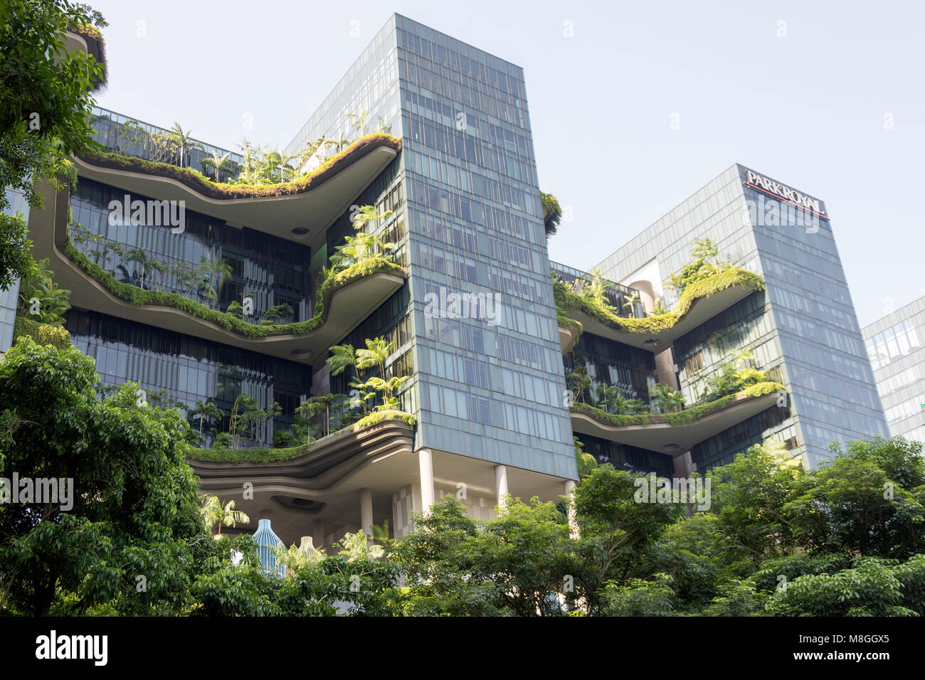 Vertical Garden On Levels Of Parkroyal On Pickering Hotel