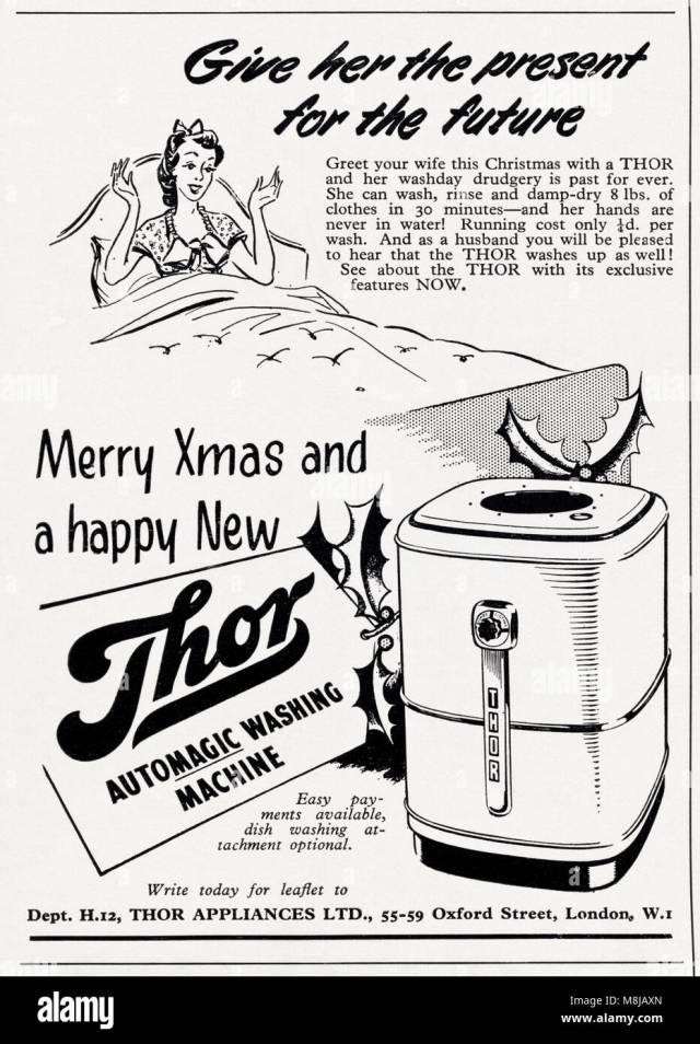 25s original old vintage advertisement advertising Thor washing