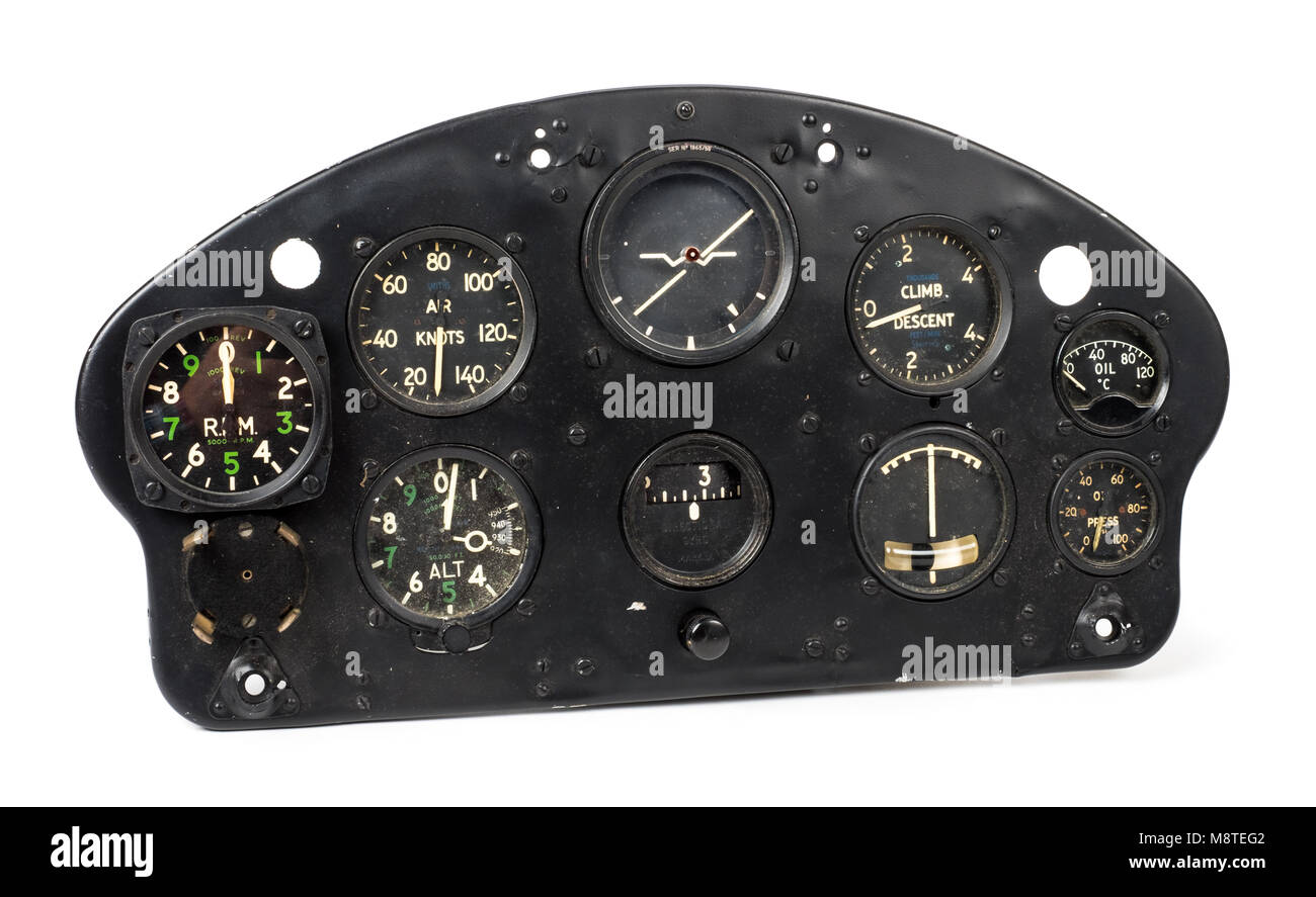 hight resolution of 1950s de havilland dhc 1 chipmunk aircraft instrument panel made by the sperry gyroscope co