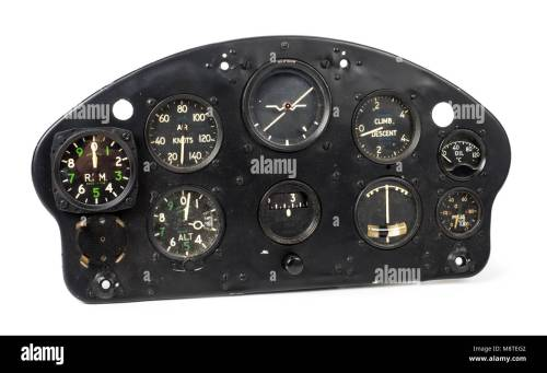 small resolution of 1950s de havilland dhc 1 chipmunk aircraft instrument panel made by the sperry gyroscope co