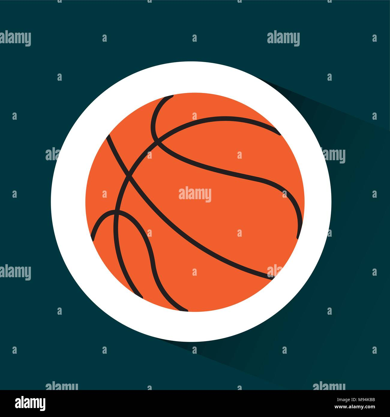 basketball sport design stock