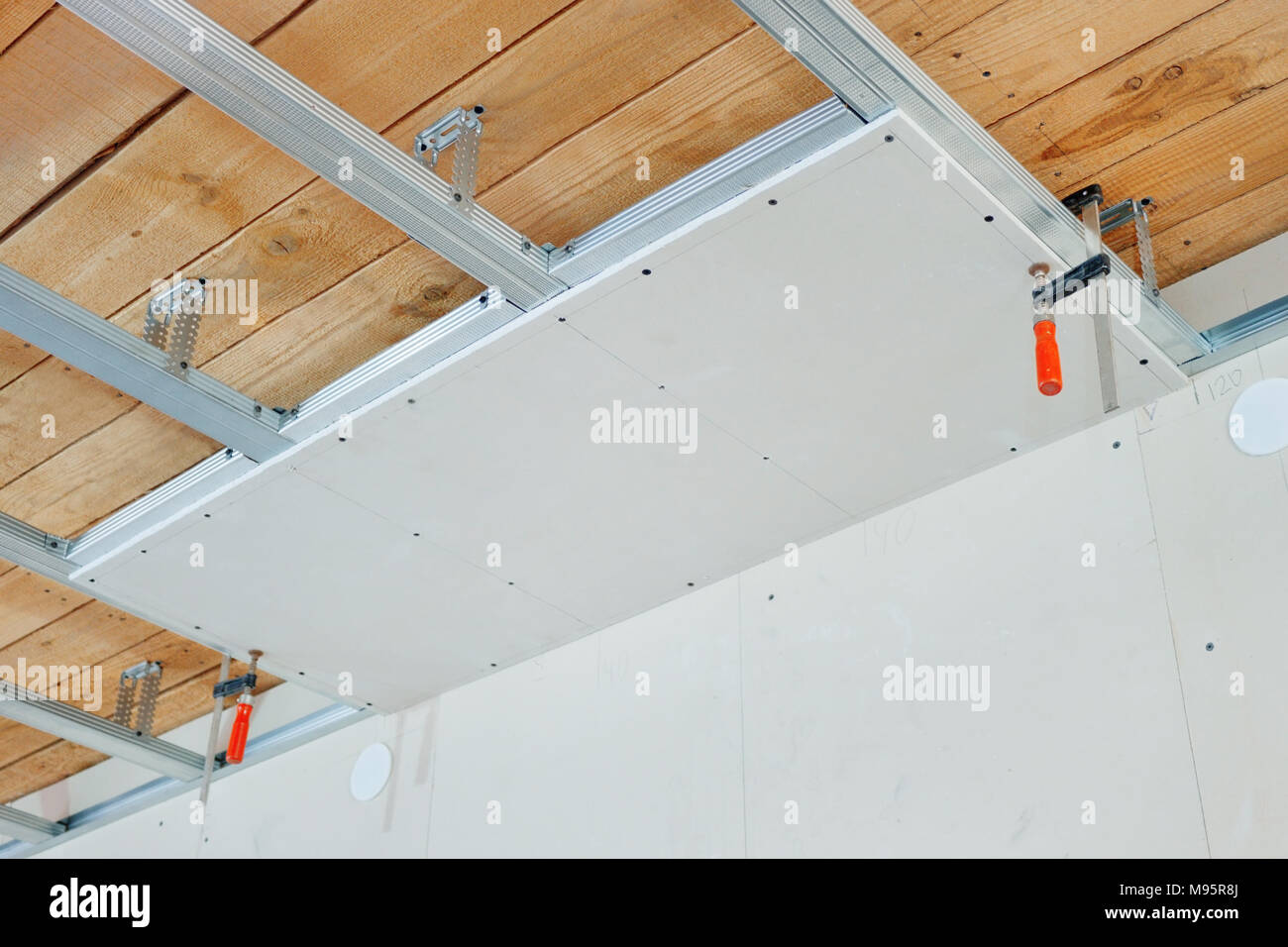 Gypsum Board Ceiling House Construction Stock Photos  Gypsum Board Ceiling House Construction