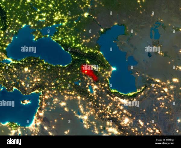 Earth View Night Satellite Stock &